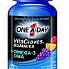 凑单品:One A Day VitaCraves Gummies plus Omega-3 DHA 维生素+Omega-3 DHA 胶囊(80粒)