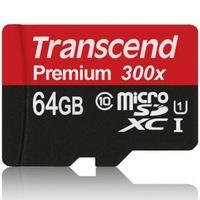 Transcend 创见  Premium 300x MicroSDXC 存储卡(64GB、UHS-I)