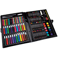 Darice 120-Piece Deluxe Art Set 儿童绘画工具120件套