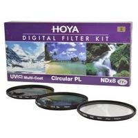 HOYA 保谷 77mm UV镜+Slim 偏振镜+NDx8 中灰镜套装