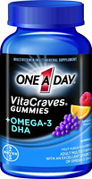 One A Day VitaCraves Gummies plus Omega-3 DHA 维生素+Omega-3 DHA 胶囊 80粒