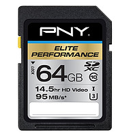 PNY 必恩威 Elite Performance 600x 64GB SD存储卡 U3
