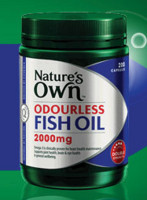 Nature's own Odourless Fish Oil2000mg无腥鱼油400粒