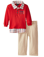 限12个月:TOMMY HILFIGER Infant Red Polo Top with Pants  男幼童两件套