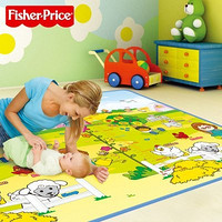 Fisher-Price 费雪 BMF22 小小探索家/趣味数字 双面包边地垫