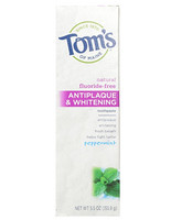 Tom's OF MAINE Antiplaque and Whitening 牙膏 (155.9g*2只)