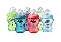 tommee tippee 汤美天地 Closer to Nature 母乳自然系列 Fiesta 彩色奶瓶 260ml*6个