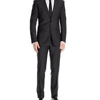 限尺码:Calvin Klein Mabry Slim Fit 男士纯羊毛西服套装