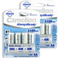 Camelion 飞狮 AlwaysReady 低自放5号镍氢充电电池 2100mAh 8节卡装*2