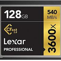 Lexar 雷克沙 3600x Cfast 2.0 专业级CF存储卡 128G(540M/s,445M/s)