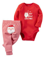 2-Piece Christmas Bodysuit & Pant Set