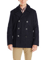 TOMMY HILFIGER Wool-Blend Melton Classic Peacoat 男款羊毛外套