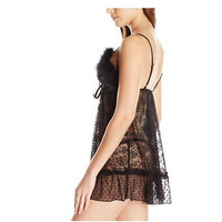 限M码 : BETSEY JOHNSON Feather and Lace Babydoll 女士蕾丝睡裙