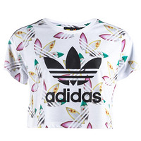 adidas 阿迪达斯 X Pharrell Williams 女士印花露脐T恤