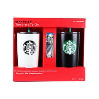 Starbucks 星巴克 圣诞限量情侣咖啡杯套装 590ml*2只 送54g咖啡