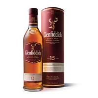 Glenfiddich 格兰菲迪 15年 苏格兰达夫镇单一麦芽威士忌 700ml *3件