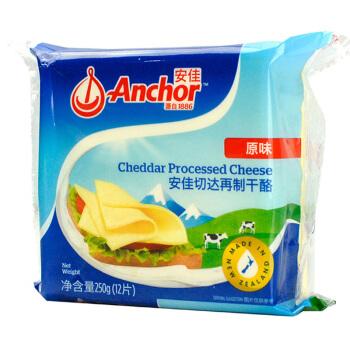 Anchor 安佳 切达再制干酪 原味 芝士片 250g