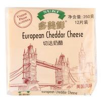 SUKI 多美鲜 切达奶酪片 250g