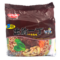 出前一丁 日清方便食品 五香牛肉味 100g*5袋 *9件