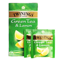TWININGS 川宁 柠檬绿茶 茶包 50g *6件
