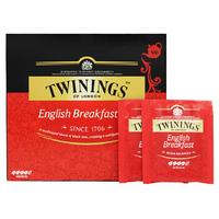 TWININGS 川宁 早餐经典红茶茶包 100g(50包) *5件