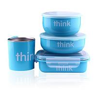 thinkbaby 辛克宝贝 不锈钢儿童餐具套装 蓝色  +凑单品