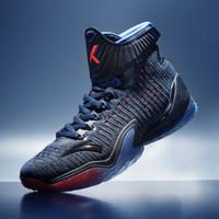 ANTA 安踏 KT 3 男子篮球鞋 黑/荧光亮深红/赛车蓝 44.5