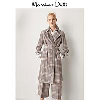 Massimo Dutti 06412520622 女士格纹大衣