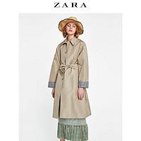 ZARA 00518061704 女款拼接风衣