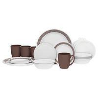 中亚Prime会员:Corelle 康宁餐具 Livingware Dinnerware 20-Piece Set 20件套 沙素描