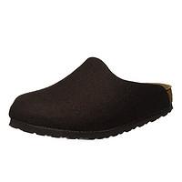 中亚Prime会员、限UK7.5码、反季特卖:BIRKENSTOCK AMSTERDAM 男士羊毛拖鞋