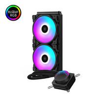 PCCOOLER 超频三 偃月240RGB 一体式CPU水冷散热器(多平台、兼容4厂主板RGB灯效)
