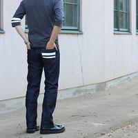 MOMOTARO JEANS 男士修身直筒牛仔裤 靛蓝 W30