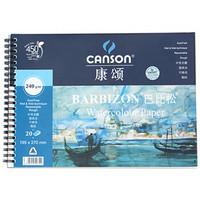 康颂(CANSON)巴比松系列水彩本240g水彩纸水溶彩铅本美术绘画本16K(195x270mm) 20张