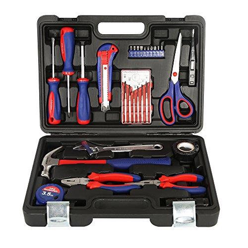 万克宝(WORKPRO)W009047N 家用工具箱套装 电工木工维修五金手动工具组套30件套多功能工具套装工具盒