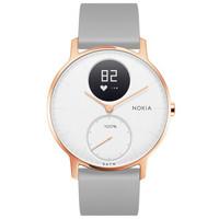 中亚Prime会员:NOKIA 诺基亚 Steel HR 智能手表 36mm 玫瑰金白