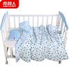 南极人(Nanjiren) 婴儿被子儿童棉被幼儿园被褥宝宝盖被秋冬被家纺被芯床上用品 蓝色小汽车 *2件