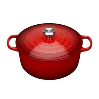中亚Prime会员、历史低价:Le Creuset 酷彩 Signature铸铁圆形锅 24cm 樱桃红