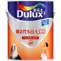 多乐士(Dulux)A890 第二代五合一净味 内墙乳胶漆 油漆涂料 墙面漆白色5L