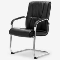 博泰(BJTJ)电脑椅 家用弓形脚 会议椅办公椅子黑色皮椅BT-5107