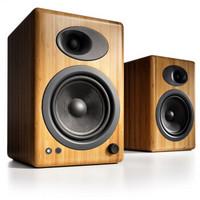 历史低价:audioengine 声擎 A5+ 书架式有源音箱 焦糖色 碳化实心竹 +凑单品