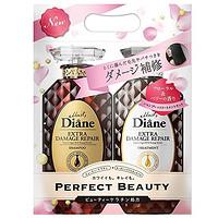 中亚Prime会员:Moist Diane 无硅香水贵油系列 深层修护(洗发水450ml+护发素450ml) *4件