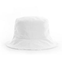 初荷 TRUE HER 渔夫帽男士夏天韩版潮牌帽子女士嘻哈遮阳帽日系原宿学生太阳帽 白色