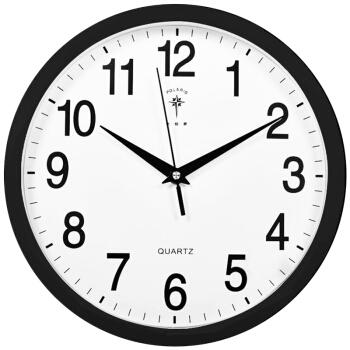 北极星 挂钟时尚创意客厅钟表 静音简约石英钟11英寸 2842 黑色