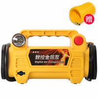 嘉西德0391金属芯智能数显预设胎压车载充气泵便携式12V汽车轮胎车用打气泵