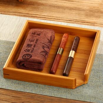 金镶玉 茶具配件 分茶套装 茶针茶刀茶巾分茶盘 实木普洱茶盒赏茶盘