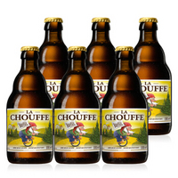 舒弗(CHOUFFE)比利时 原瓶进口 精酿 舒弗啤酒 330ml*6瓶 *2件