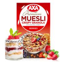 瑞典(AXA)进口水果麦片即食早餐冲饮谷物 浆果什锦燕麦片270g