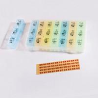 Vilscijon维简 药盒一周便携式21格家庭旅行分装分药品收纳盒大容量小药盒子 8219