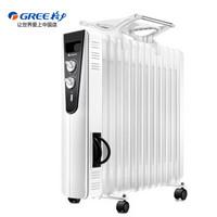 格力 (GREE)取暖器/電暖器/電暖氣片家用 京東自營 13片電油汀/速熱/寬片/白色 NDY11-X6026a